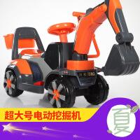 【支持礼品卡】新款儿童挖掘机可坐可骑大号电动挖土机钩机男孩玩具车滑行工程车 v3a