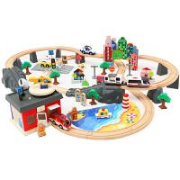 电动轨道车男孩积木2-3-6周山车小火车套装轨道儿童玩具