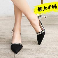 户外凉鞋女高跟鞋韩版百搭包头细跟单鞋配裙子穿的鞋
