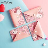 hello kitty正品2020新款潮ins网红豹纹粉色可爱甜美零钱包小卡包