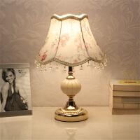 七夕礼物 创意小台灯欧式卧室装饰婚房温馨可调光LED节能床头灯个性现代