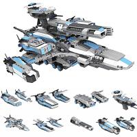 木玩具10儿童12岁男孩小白龙星球大战6军事系列8拼装积