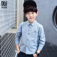 儿童春装韩版条纹衬衫2018年新款男孩休闲衬衣