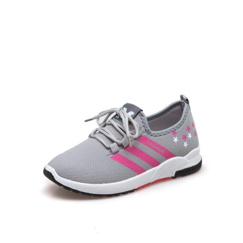 O'SHELL欧希尔新品060-73355休闲网布平底女士运动鞋