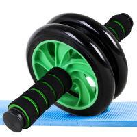 捷�N 双轮静音健腹轮 腹肌滚轮健身轮 家用健身器材 两色可选下单留言