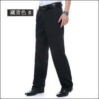 中老年男士秋冬装休闲裤长裤加大加肥双遮高腰纯棉裤子爸爸装厚裤