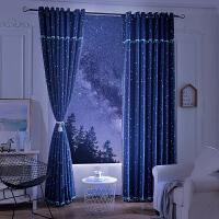 遮光窗帘成品简约现代加厚卧室客厅欧式落地飘窗清新免打孔J