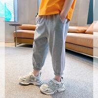 【2件2折】左西男童七分裤子夏装薄款儿童防蚊裤纯棉休闲运动裤短裤夏季2021新款