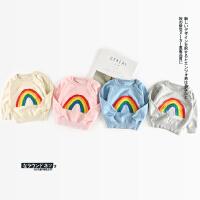 62 秋季新款婴幼儿男女童糖果色彩虹毛线衫