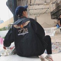 秋季男士飞行员夹克韩版帅气学生棒球服潮流刺绣运动休闲外套