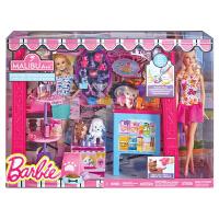 芭比(Barbie) 马里布商店(带娃娃) BDF49