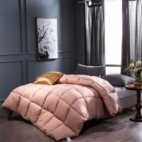 贝赛亚纤维被 保暖羽丝绒冬被春秋被芯 双人加大被子220*240cm 粉色