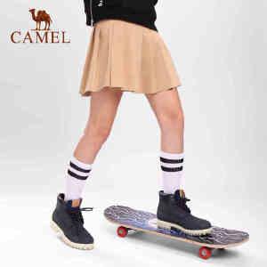 camel骆驼高筒腰袜子 男女款微弹轻柔吸汗高筒运动袜