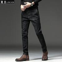 新款秋季牛仔裤男修身小脚青年秋冬款长裤子男士学生韩版潮流