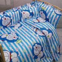 纯棉婴儿床围儿童拼接床床围套件新生儿宝宝防撞床围床上用品 小叮叮四件套1 定做儿童拼接床围请咨询客服