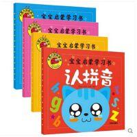 正版图书全4册宝宝认知学习学拼音认字母教材汉字数字数学启蒙婴幼儿园绘本学前班儿童读物早教图书籍适合0-1-2-3-4-5-6周岁两三四岁识字书