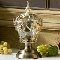家用装饰储物罐欧式创意糖果罐 玻璃 糖罐带盖大号家居日用干果罐