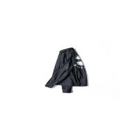 ESJUUSIRO男装日系潮流衬衫简约百搭纯色印花中长款牛仔衬衣 黑色