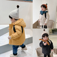 童装男童冬装外套儿童长款棉衣
