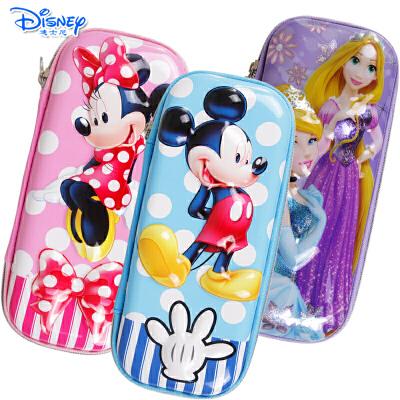 迪士尼米奇米妮公主儿童小学生铅笔盒大容量3D双层立体压模笔袋