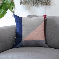 现代简约抱枕几何北欧风手工编织羊毛抱枕沙发靠垫套 QD-04 45*45不含芯 尺寸CM(不含芯)