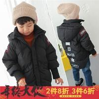 童装男童2017冬季新款韩版儿童棉衣外套中长款加厚保暖冬装