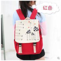 女休闲日韩版初中高中生书包帆布背包潮校园学院风学生双肩包 可礼品卡支付