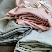 棉水洗棉格子棉素色床单单件纯棉新疆棉单人双人简约春夏床品