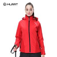 单层户外冲锋衣男女春秋款薄款防水透气西藏旅游外套 水红-女款 S