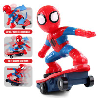 蜘蛛侠玩具车滑板车翻滚车特技车遥控车电动儿童遥控汽车玩具男孩 蜘蛛侠滑板车-配置充电器