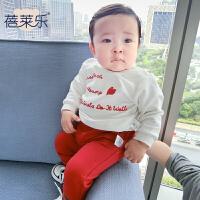 婴儿童装卫衣套装春秋夏季女宝宝0岁4个月春秋装外出衣服