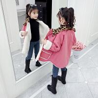 女童外套秋冬洋气中大童加绒上衣冬装儿童棉衣潮