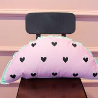 家纺可爱个性全棉抱枕床上配饰沙发汽车靠垫套纯棉腰靠含芯可拆洗 约35*55cm 全棉含芯