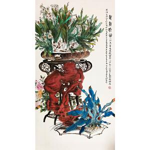 郑乃��《花鸟》著名画家