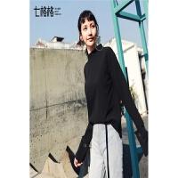 雪纺衫上衣女2018春装新款秋冬季黑色韩版宽松百搭长袖仙打底衬衫