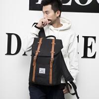 双肩包男士英伦时尚潮流韩版校园学生书包女学院风大容量旅行背包