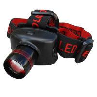 可伸缩强光头灯 户外野营灯 钓鱼灯 CREE160流明LED泡 3节7号电池