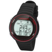 登山海拔温度心率计步跑步骑行多功能户外防水智能手表男女SN3824 白底黑字