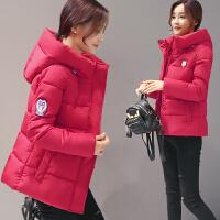 棉衣女中长款加厚冬2017新款韩版宽松学生面包服棉袄外套高中