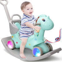 【满2件5折】活石 儿童摇摇马塑料玩具马宝宝小木马婴儿摇摇马一大号加厚益智周岁礼物