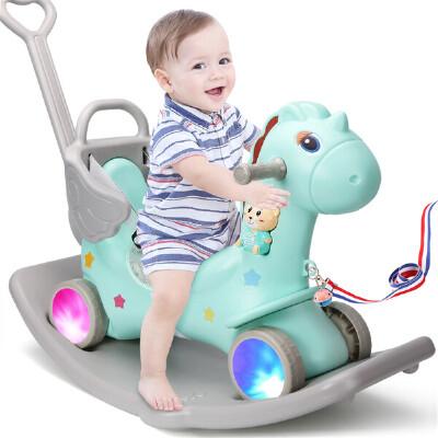 【满2件5折】活石 儿童摇摇马塑料玩具马宝宝小木马婴儿摇摇马一大号加厚益智周岁礼物给宝宝不一样的童年