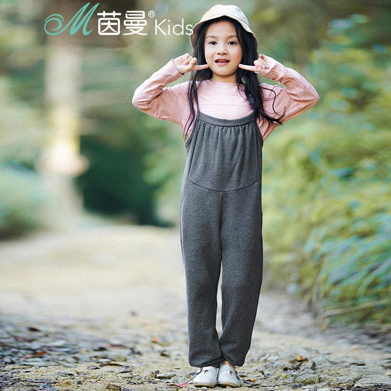 茵曼童装儿童套装新款男女童休闲背带裤百搭套头长袖两件套【3881256032】 棉麻艺术家