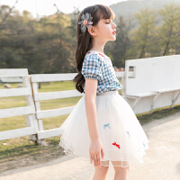 女童套装夏装夏季儿童装大童女孩两件套裙子
