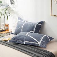 枕套棉枕头套枕袋枕皮棉枕芯套子一对装棉枕套 48cmX74cm