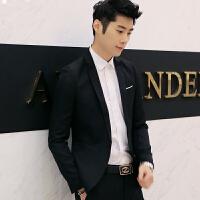 韩观男士西装修身韩版时尚小西装男上衣休闲拼色西服外套潮