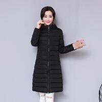韩观冬季加厚新款修身百塔羽绒时尚显瘦棉衣女中长款棉袄保暖外套