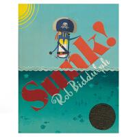Sunk 船沉了 英文进口原版图书 儿童启蒙绘本 3-5岁 儿童漫画英语绘本 南极冒险