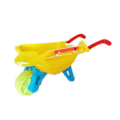 塑料沙滩独轮儿童小推车玩具85cm宝宝玩沙抖音工具带铲手推车
