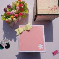 同款爆炸魔方相册diy 定制方块无限翻转照片抖音创意手工生日礼物礼物 粉红色 材料包