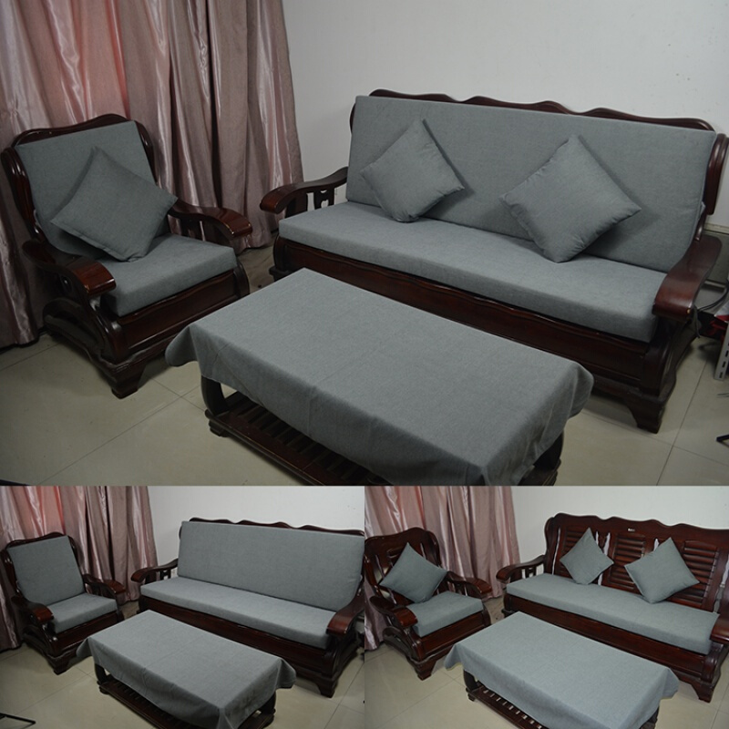 实木沙发海绵垫联邦椅垫春秋椅坐垫老式沙发坐垫带靠背加厚   ①采用高密度加硬高弹海绵制作,舒适,经久耐用,使用寿命长达5-10年 ②采用棉麻